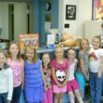GIRL SCOUT BROWNIE TROOP #2989, SCIOTOVILLE – May 6, 2014  We want to thank these girls for collecting donations of items from Sierra's Wish List.  They delivered the items and took a tour of the shelter, then played with cats and kittens.